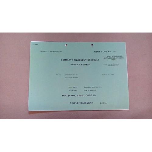 CLANSMAN CES CATALOGUE BATTERY CHARGER AC  43827